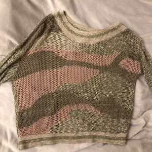 New Fashion to figure mesh knit type top 0X
